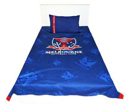 Official AFL Melbourne Demons Quilt Doona Cover Set