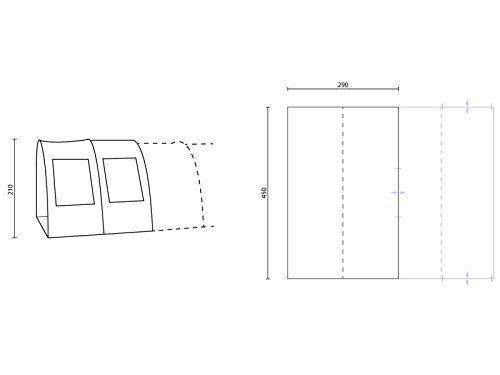 Skandika Zelt Skandika Canopy Gotland 6 Sand – Tiendas de campaña de túnel ( más de 5 kg ), color blanco