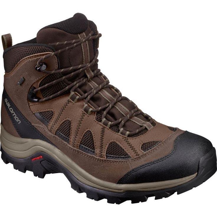 Salomon Men's Authentic LTR GTX Waterproof Hiking Boots, Brown