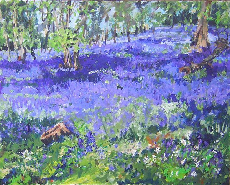 Timmy Mallett - Interests - Painting - bluebells