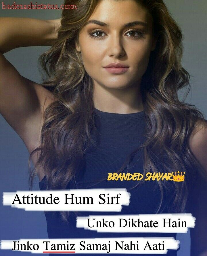 Attitude Quotes And Captions In Hindi Attitude Quotes Girly