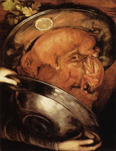 El cocinero. De Giuseppe Arcimboldo.