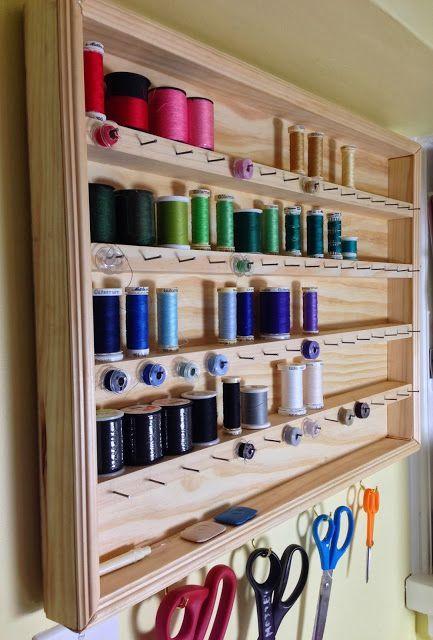 Sew Organized: Constructing a Thread Organizer. Organizes thread and bobbins.