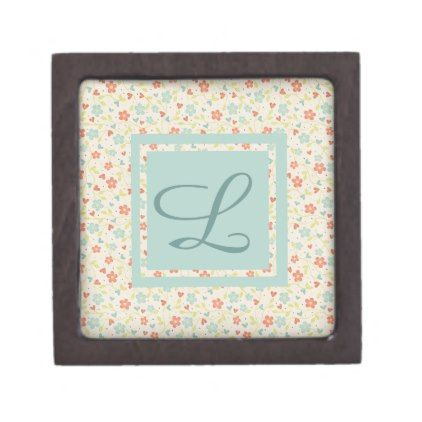 Vintage Light Spring Busy Floral Personalised Gift Box - spring gifts style season unique special cyo