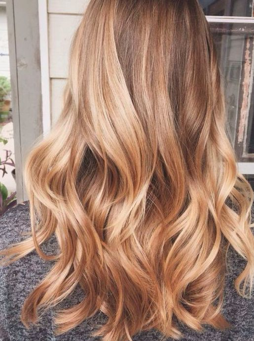 Rose gold blonde.