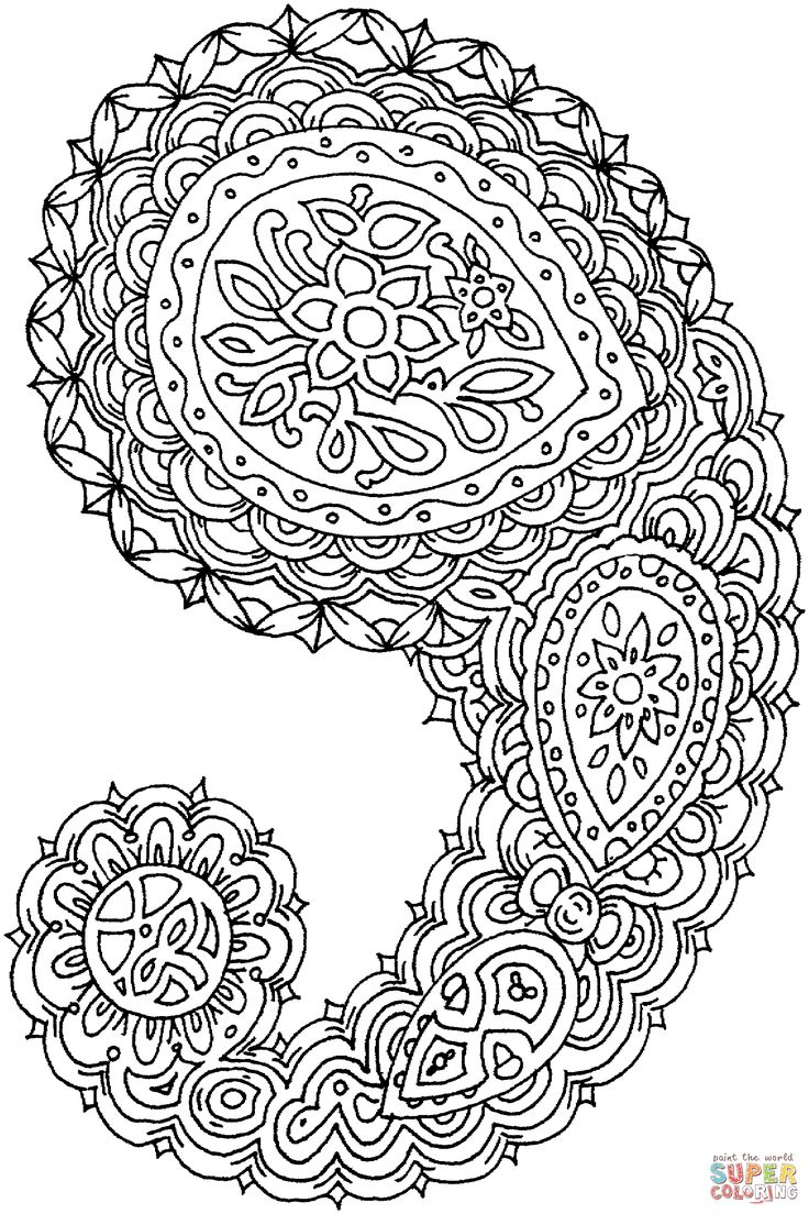 best 25 paisley coloring pages ideas only on pinterest paisley