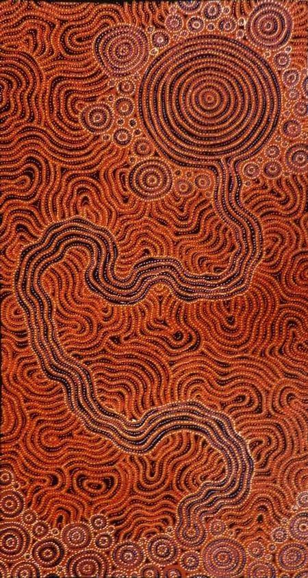 Sarrita King ~ Waterhole, 2013. Aboriginal art