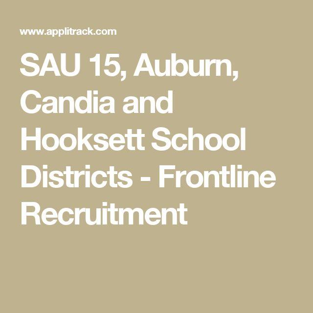 SAU 15, Auburn, Candia and Hooksett School Districts - Frontline Recruitment