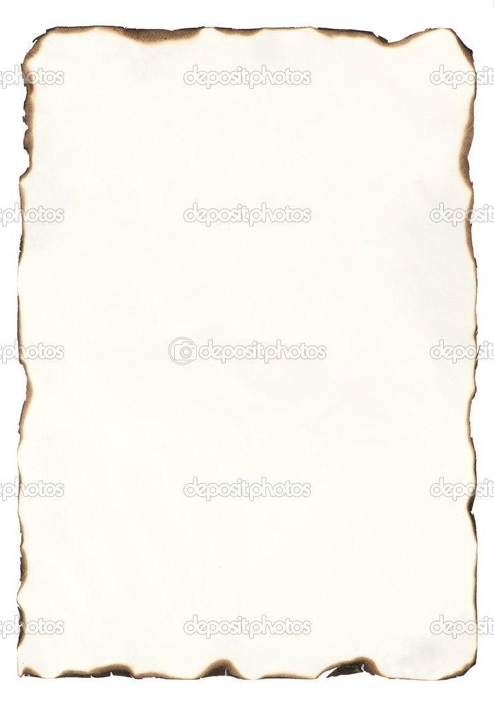 vecchia carta con bordi bruciati — Immagine Stock #23987999