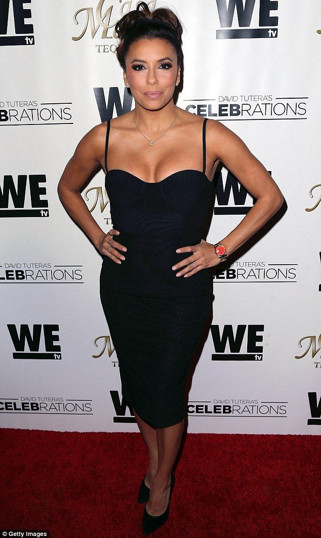 Going solo: Eva Longoria wore a LBD to the Casa Mexico Tequila bash at Beso on Friday wher...