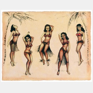 Amazoncom : Vintage Hawaii Pin-up Hula Girl
