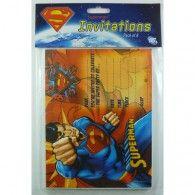 Superman Invitations Pkt8 $7.95 A070021