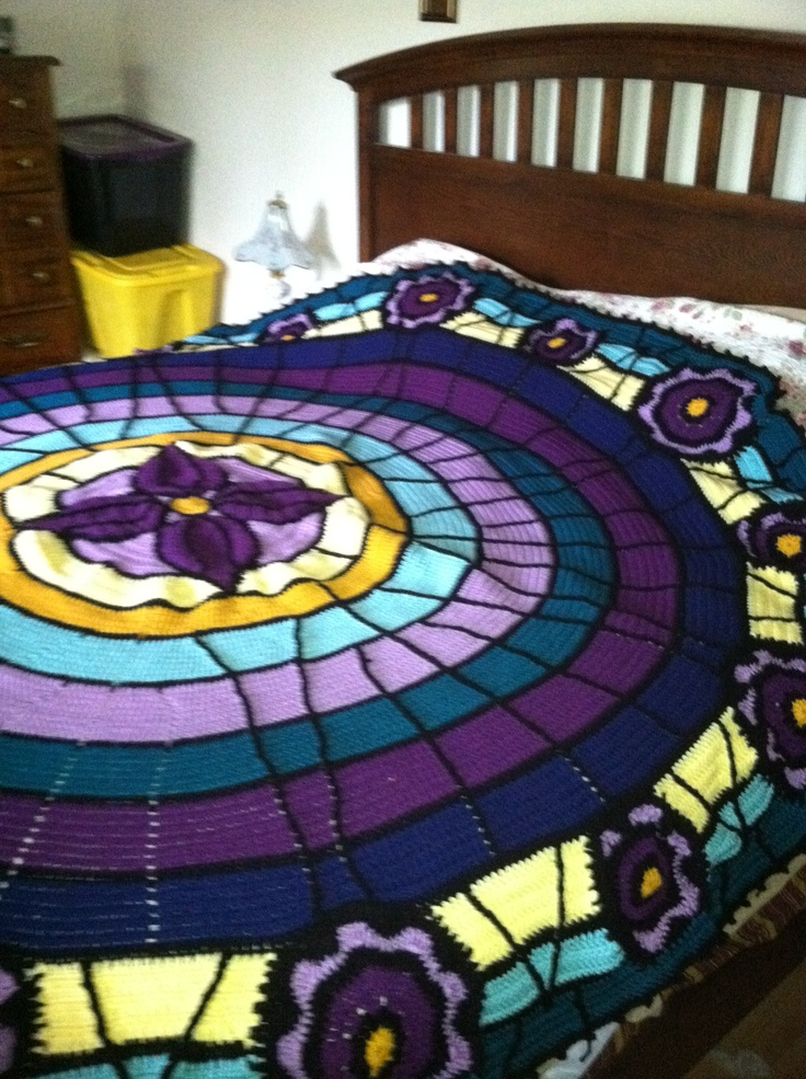 17 Best images about Stained Glass Crochet Afghans on ...