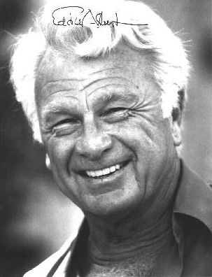 Eddie Albert US Navy. Drove Amtracks in several Pacific invasions. He served in the landings at Saipan in 1943, where he rescued wounded and stranded Marines from the beachhead. At Tarawa, he was wounded and lost most of his hearing and earned the Bronze Star.