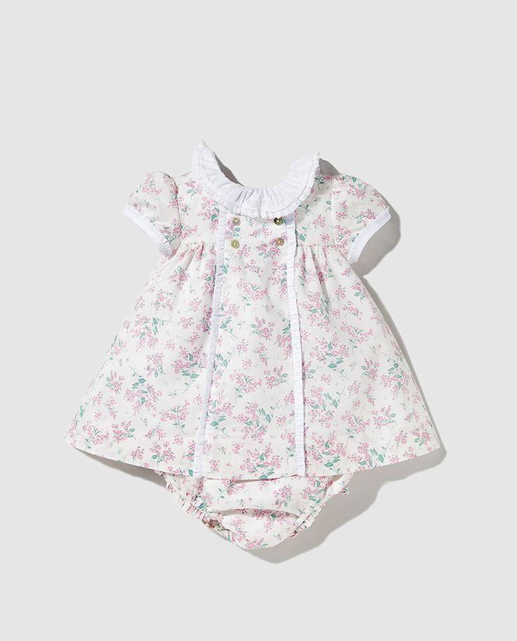 Vestido de bebé niña Dulces con estampado de flores
