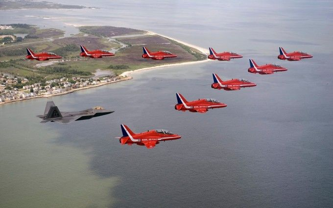 Red Arrows of Royal Air Force