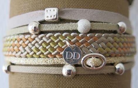 Bracelets : Bracelet manchette beige