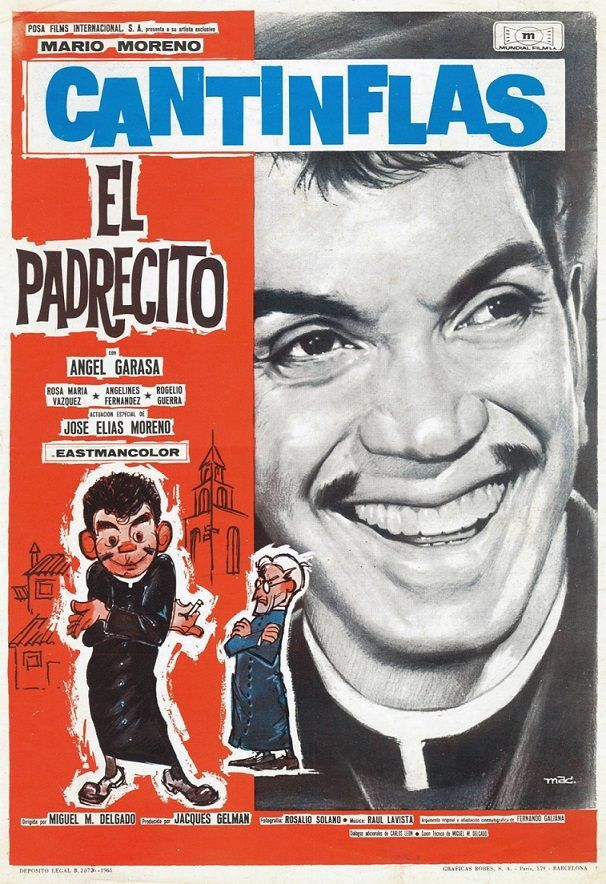 El Padrecito 1964 A New Priest Comes To A Little Town Causing Discomfort To Parishioners Original Movie Posters Movie Art Movie Posters