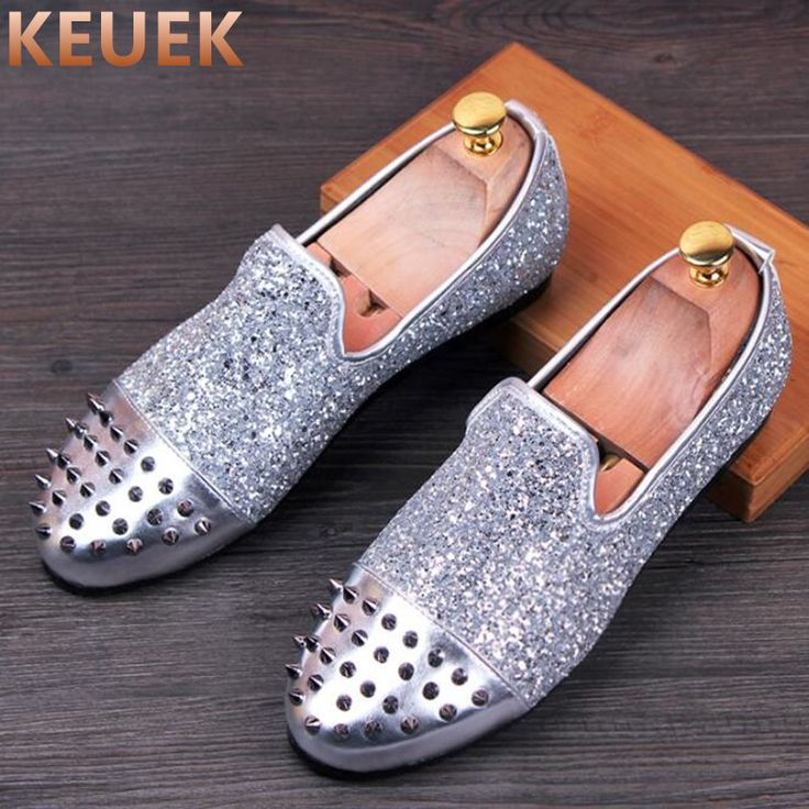 Spring Autumn Men Moccasins Fashion Rivets Casual Leather shoes Breathable wear-resistant Slip On Flats Men Flats 022 #Affiliate