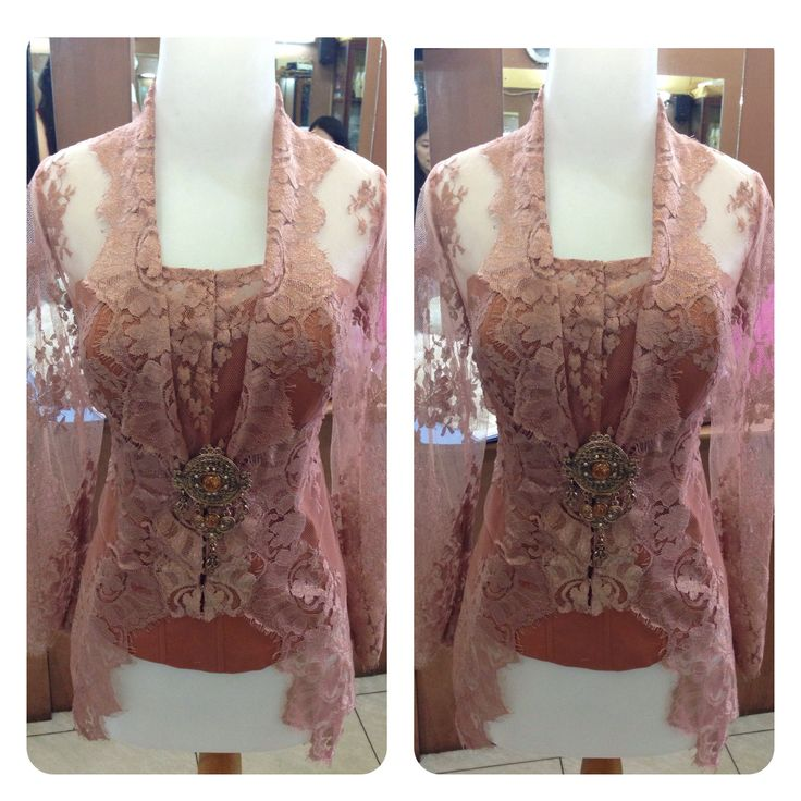 Ongoing project. Semi kutubaru kebaya. Brownish nude color