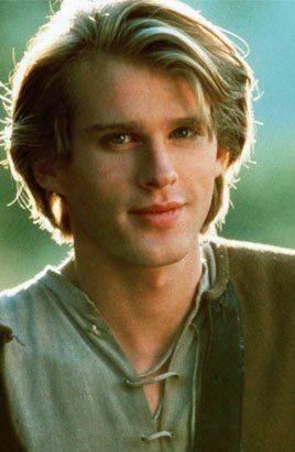 Young Cary Elwes just a poor farm boy with eyes like the sea after a storm.