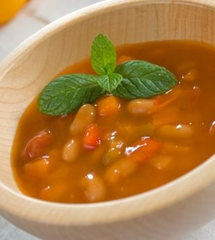 Everybody has a recipe for bean soup and everybody claims his or hers is the best in the west. Well, sorry chaps, but we are too busy to pick and soak beans so here we reveal our recipe for bean soup. And we must tell you we've served it often to our very dearest friends, they who swear by their own - passed-on-through-the-ages - bean soup recipes. To date, nobody has had the slightest doubt that we did not slave for hours over this labour of love. Now that's our idea of great 'crooking'!