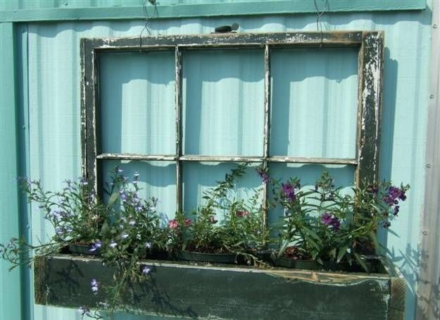 Recyklujte staré dveře a okna jako novou bytovou dekoraci