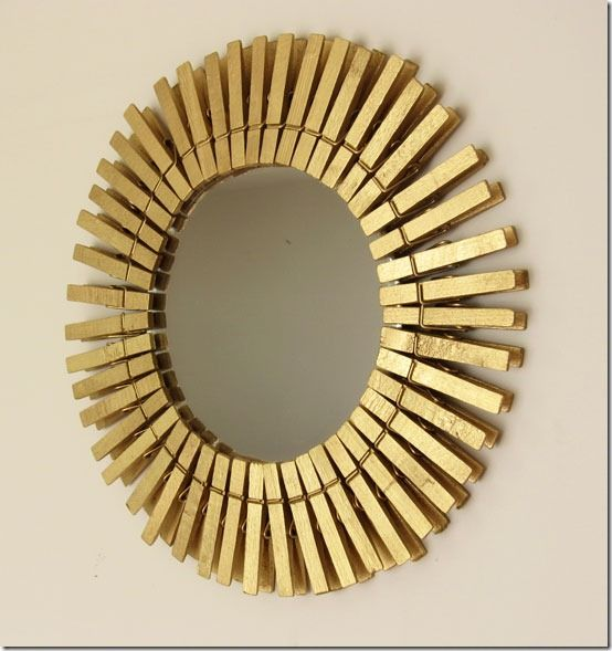 Easy gold starburst mirror with other cool mirror ideas