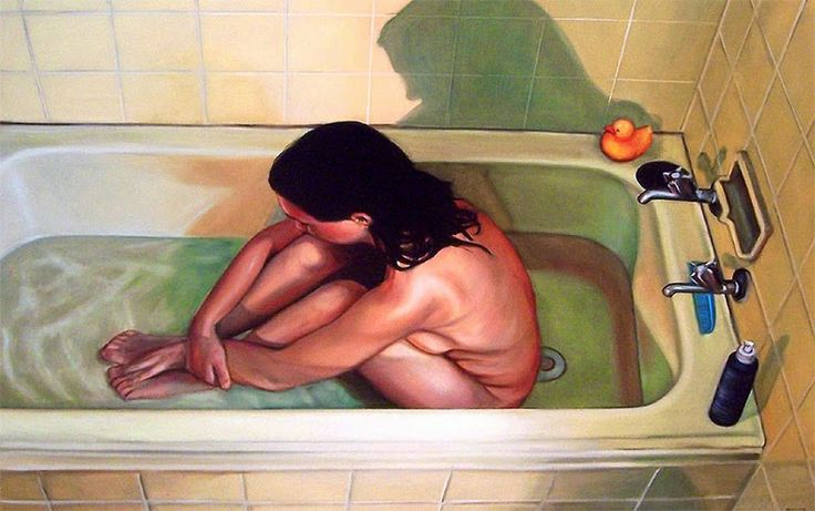 D.W.C. After the Bath - Painter Anwen Keeling