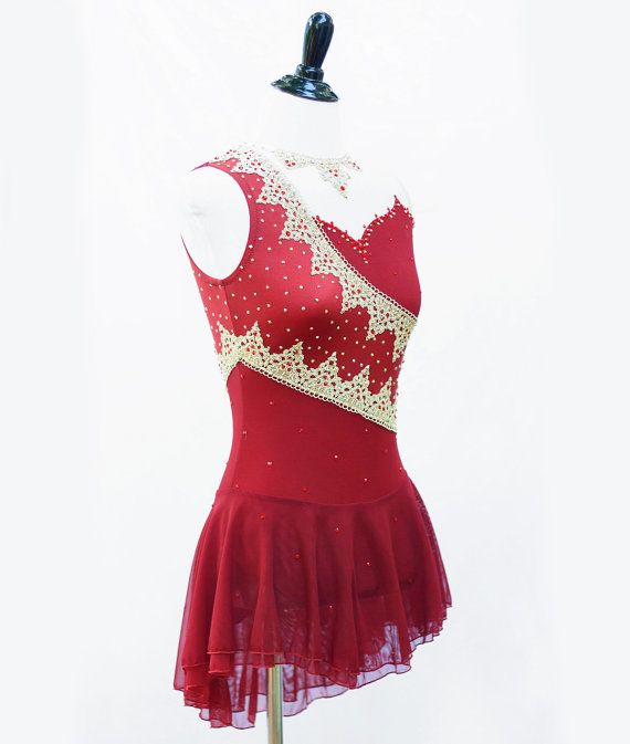 Bollywood Figure Skating Dress by RichelleJonesDesigns on Etsy