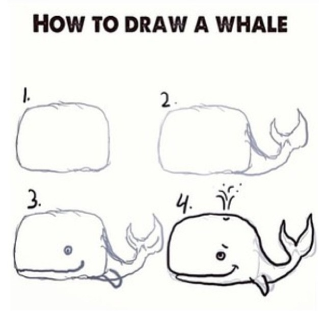 How to draw a whale!