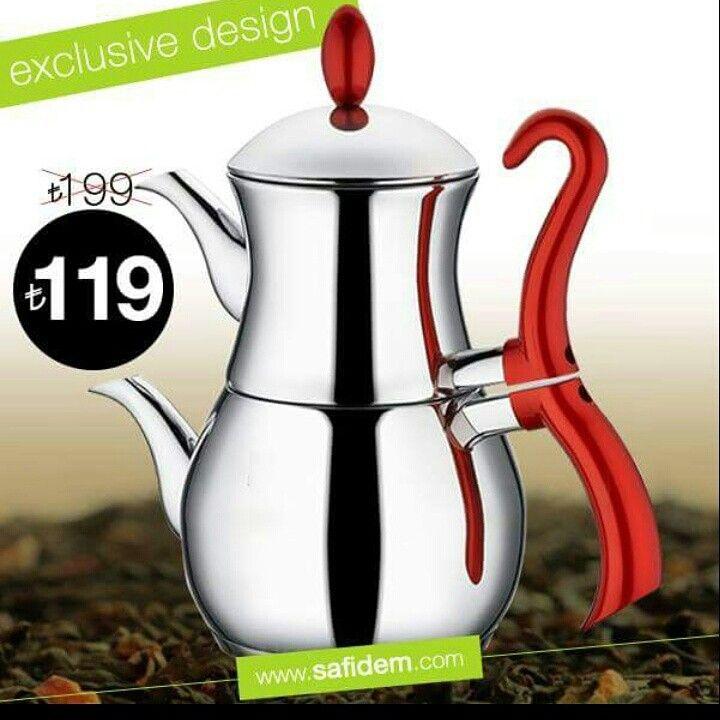 En iyi çay en iyi çaydanlikta demlenir!www.safidem.com da satişta!