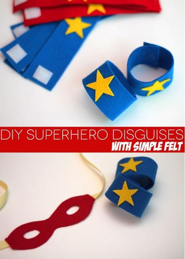 DIY Superhero Disguise with Felt Paper and other DIY superhero costume ideas, see more at http://diyready.com/diy-superhero-costume-ideas