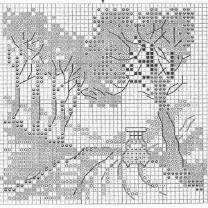 Схема вышивки История красной машинки 3 из 6