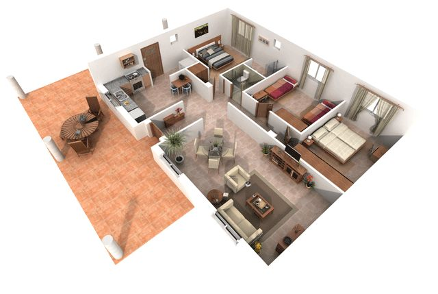 39 best images about planos on pinterest house plans 2 for Planos de casas 3d