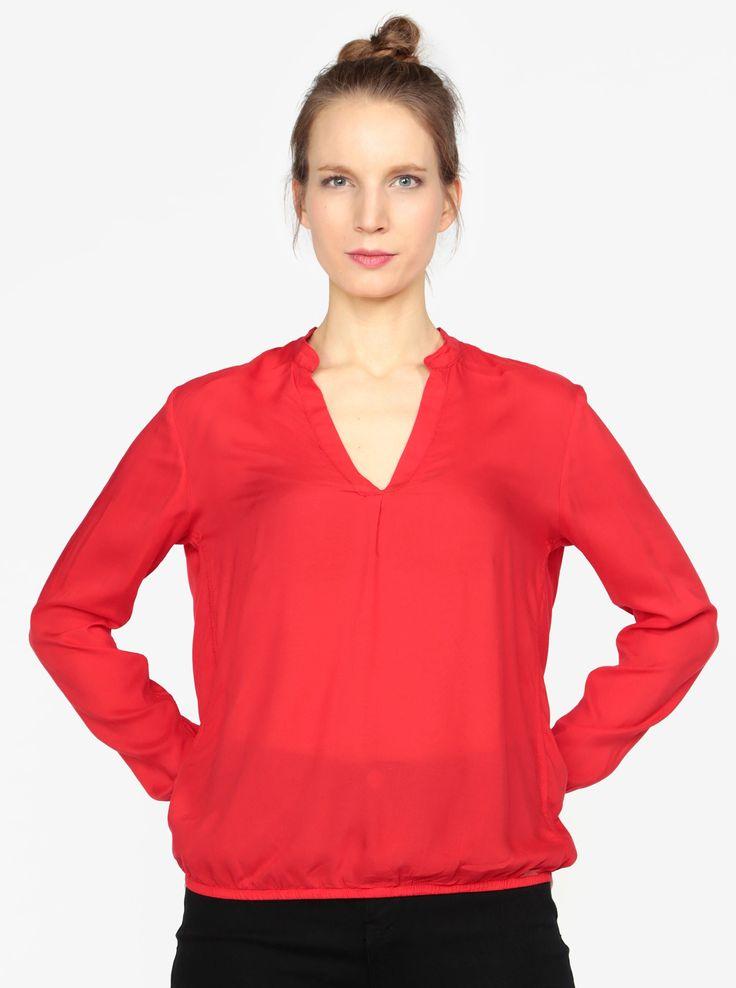 Tunica rosie cu maneci lungi pentru femei - s.Oliver - S.Oliver