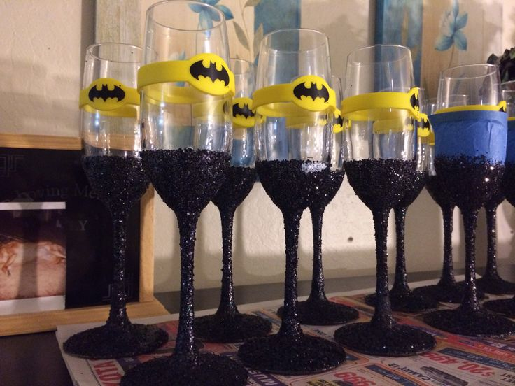 Batman themed handmade glasses :)
