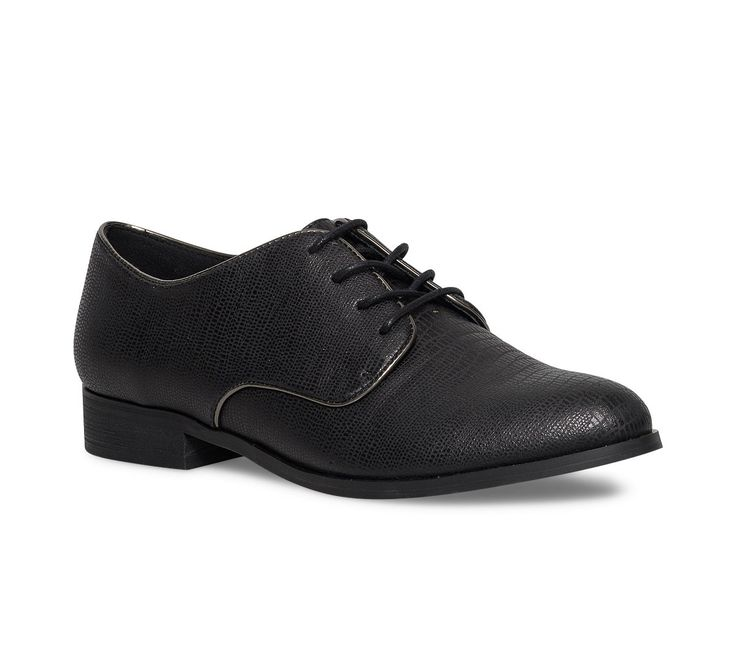 Derby noir reptile femme - Derbies - Chaussures femme