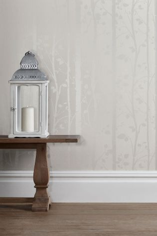 Buy Paste The Wall Silver Trees Wallpaper From The Next UK Online Shop