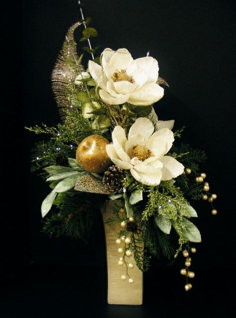 how to make christmas floral arrangements
