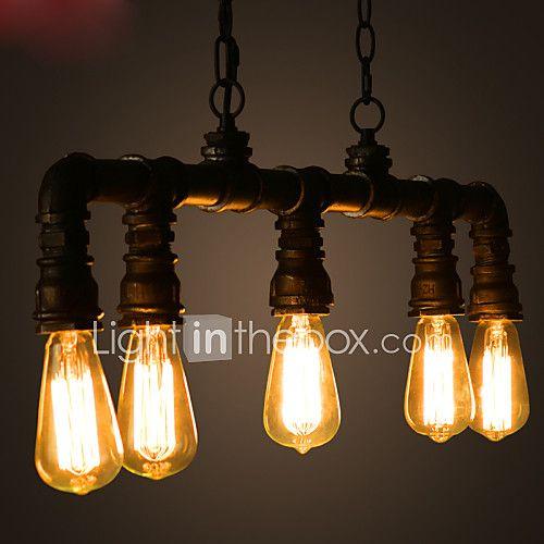 Rustique Rétro Style mini Island Light Lumière dirigée vers le bas