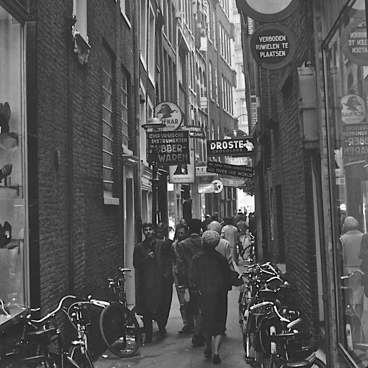 Vintage black and white Amsterdam street scene print photography. NEW price reductions on Donovan Design Photography.