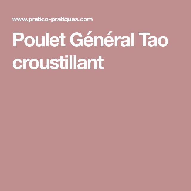 Poulet Général Tao croustillant