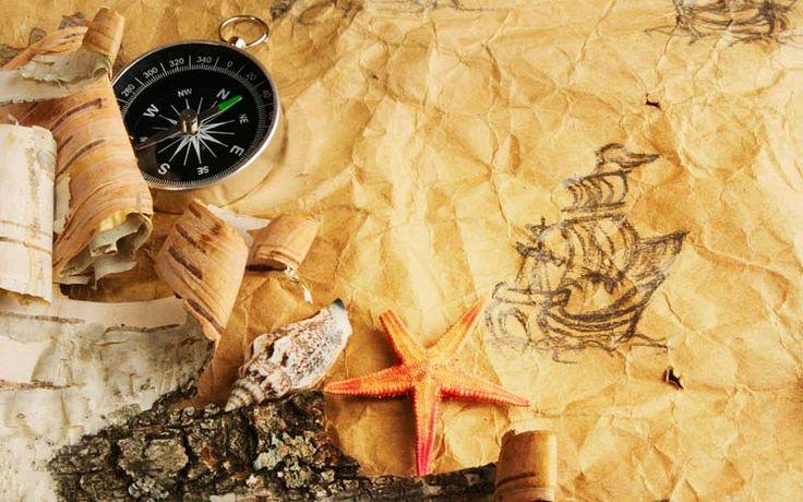 Старинные морские карты Обои рабочий стол