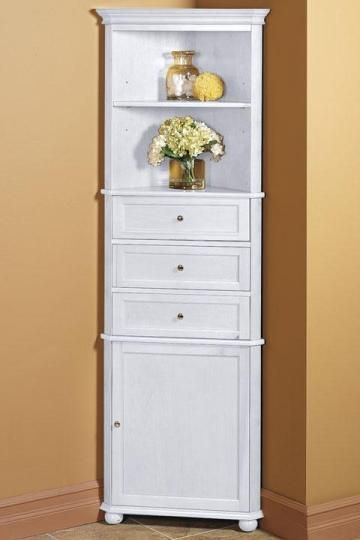 hampton bay corner linen cabinet i linen cabinets bathroom cabinets bath homedecorators - Bathroom Cabinets Corner
