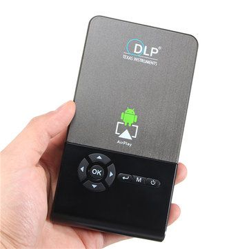 C2 Smart Mini Projector 1G/16G Android 4.4 LED DLP 1000LMS Home Theater Projector Sale - Banggood.com