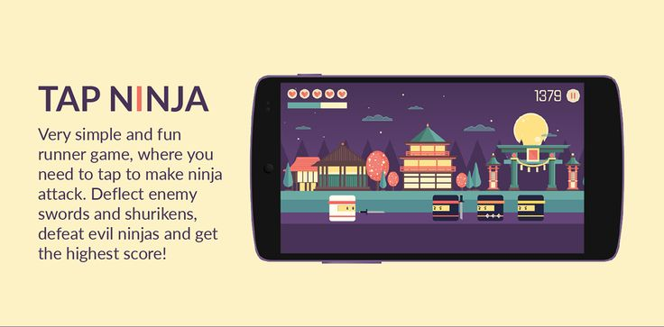 Very simple and fun runner game, where you need to tap to make ninja attack. Deflect enemy swords and shurikens, defeat evil ninjas and get the highest score.Join ninja in his challenge!