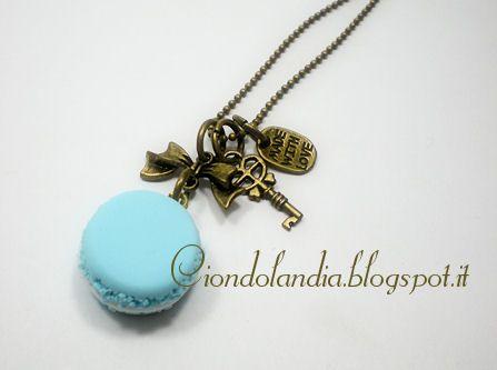 Collana Macaron Vintage Style ---color oro antico (FIMO Hand Made)----