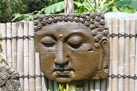 Wanddeko - Relief Buddha Brunnen Gartenbrunnen Springbrunnen - ein Designerstück von TAR-SHOP bei DaWanda