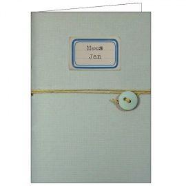 Notebook ijsblauw geboortekaartje